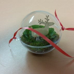 PHOTO: Moss globe terrarium ornament.