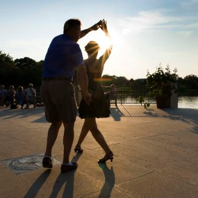 PHOTO: A sunset samba on the Esplanade.