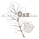 Oak leaf and acorn illustration.