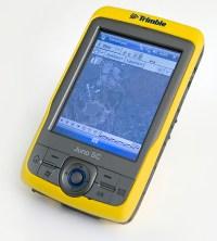 PHOTO: Trimble handheld device.