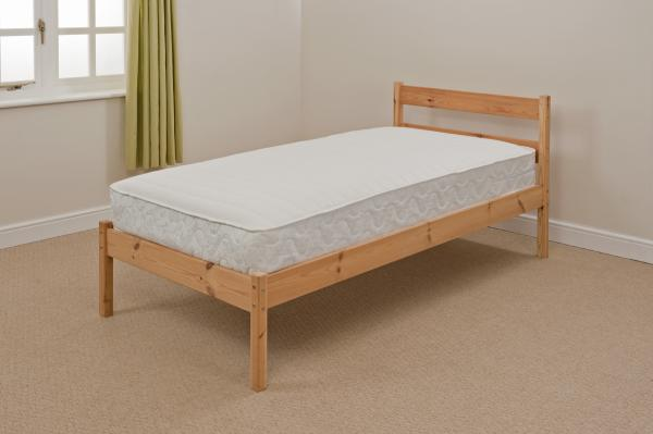 Image Is Loading 3ft Single Pine Value Bed In White Or
