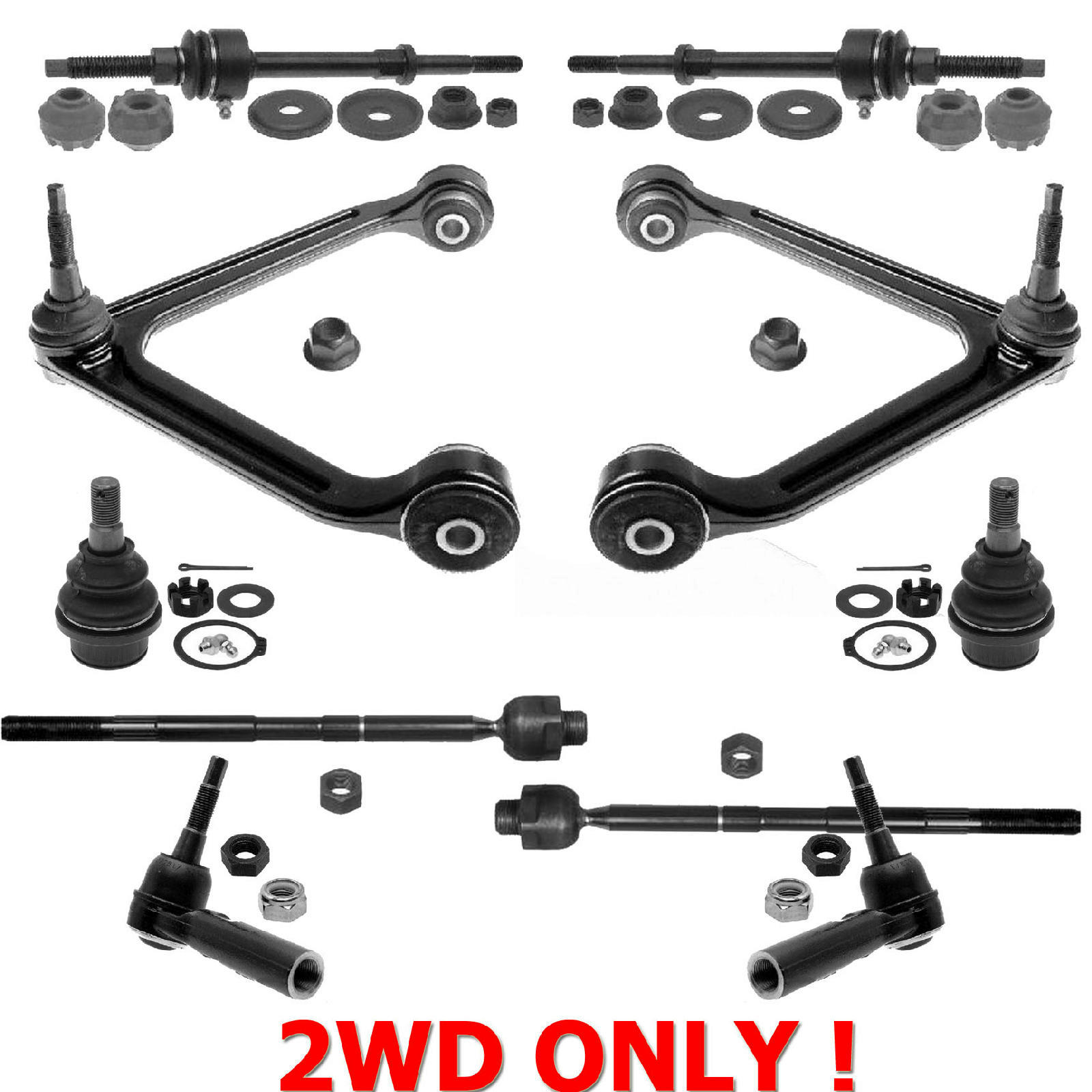 Dodge Ram 2wd Control Arms Ball Joints Tie
