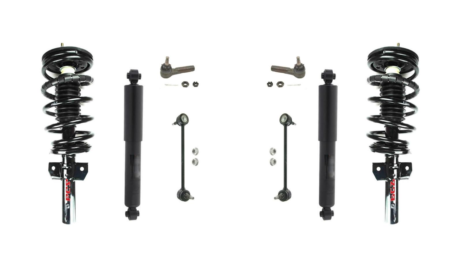 95 03 Windstar Frt Quick Spring Strut And Mount Rr Shocks