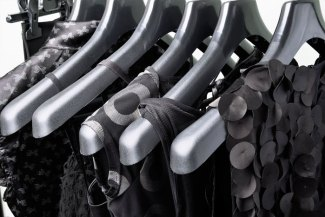 Black dresses on hangers