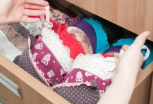 drawer of bras