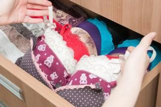 drawer of bras