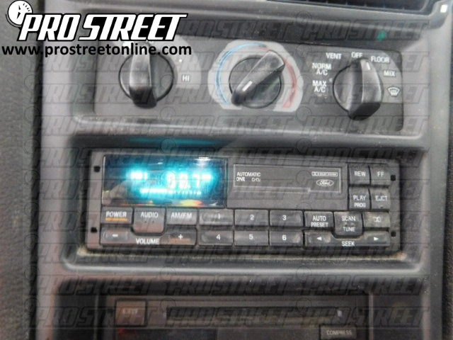 How To Ford Mustang Stereo Wiring Diagram  My Pro Street