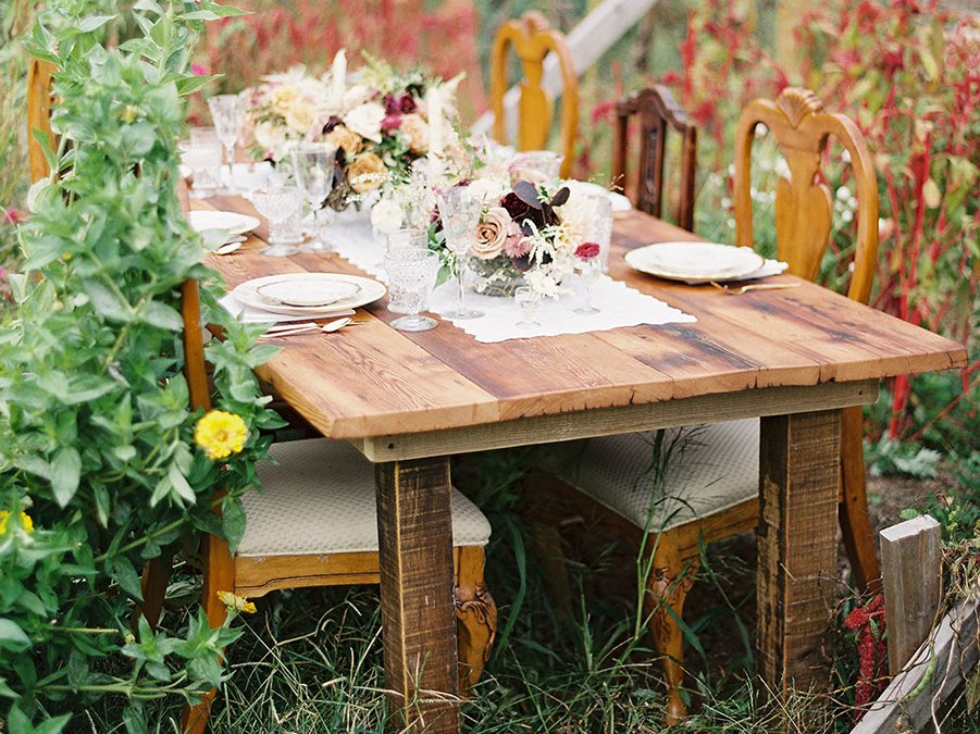 Reclaimed Farm Tables
