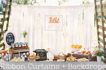 ribboncurtains and backdrops