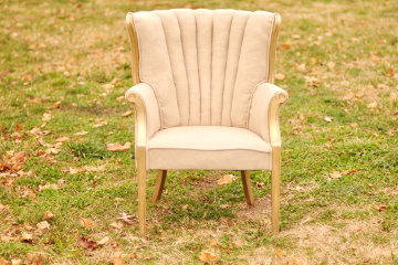Linen Channel Back Chair
