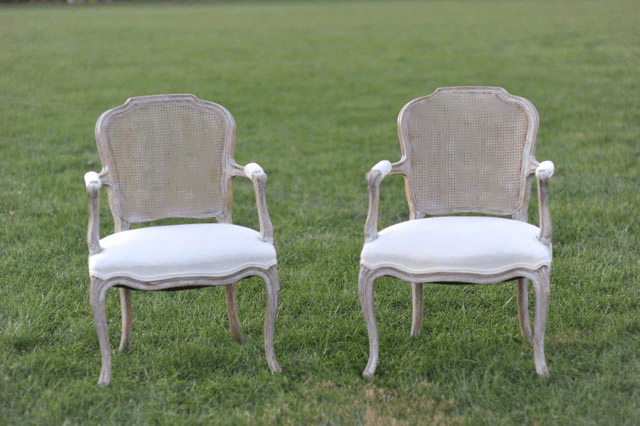 The Irvings Whitewashed Chairs