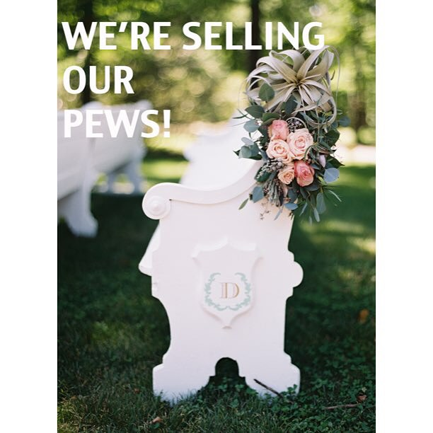 We are selling 30 of our #vintage church pews for a steal--$149 each (which is also our rental price)! We need to make room for our growing supply of reclaimed wood, so these pews have gotta go!  Message us at info@somethingvintagerentals.com to purchase!  #vintagerentals #weddings #events #antique #eventdesign #furniturerentals