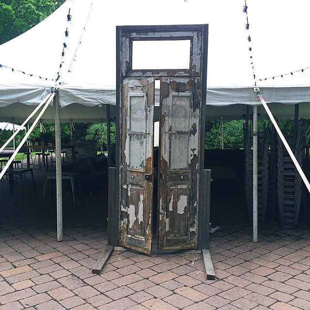 Open Sesame!  So excited for these doors to make their debut at #zoofari2016 by  @smithsonianzoo tonight! And yes, they open  Thank you @fonznationalzoo! ….#vintage #vintagerentals #industrial #salvage #build #acreativedc #nationalzoo #fonz #dcevents #eventstyling #patina #door #furniturerental