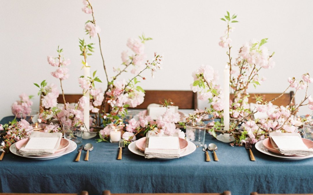 A Charming Cherry Blossom Wedding Editorial || Washington DC