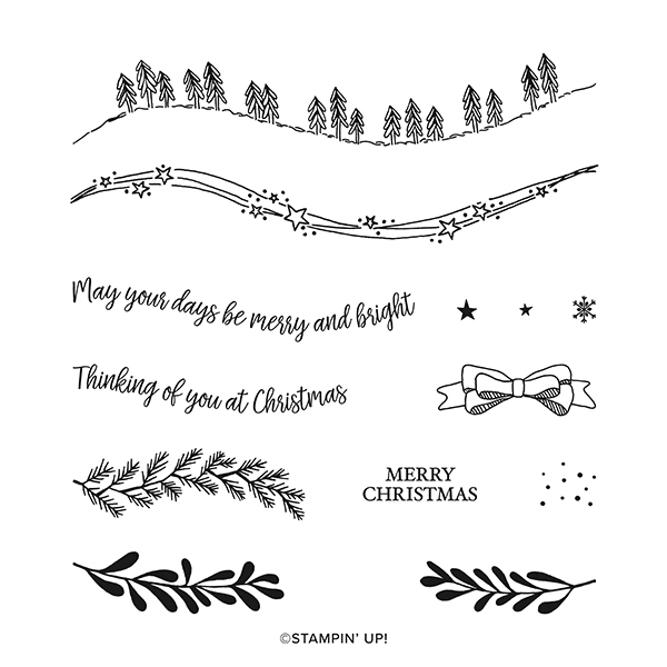 155364 CURVY CHRISTMAS PHOTOPOLYMER STAMP SET