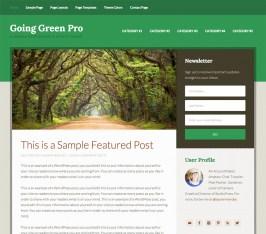 Genesis Child theme Going Green Pro