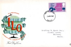 ILO first day cover, 1969