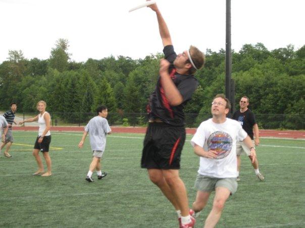 SFU frisbee game catch