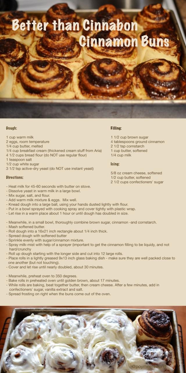 Recipe better than cinnabon