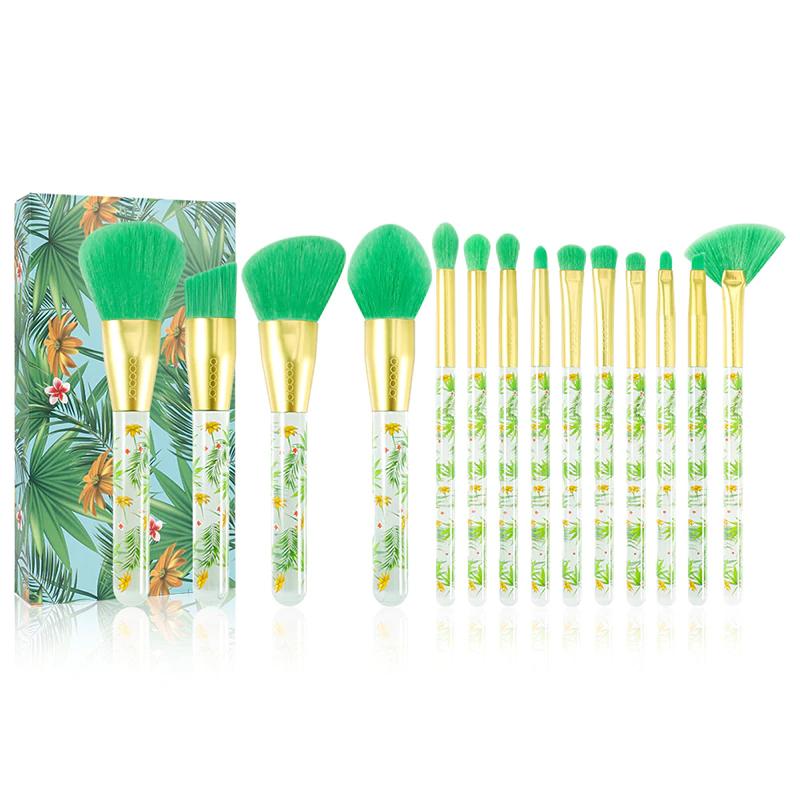 neon makeup brushes