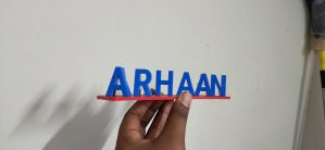 FLIP name 3d print name gifts blue and red double color