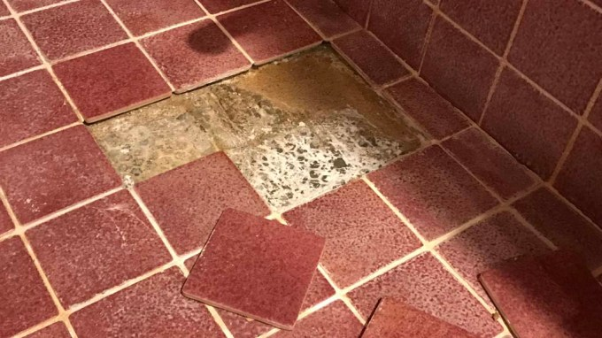 Shower Floor Damaged Replace and Repair