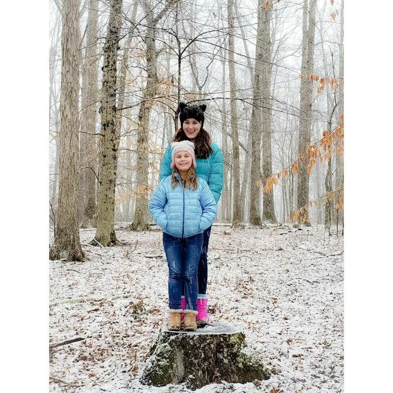 Two girls in the snow 1