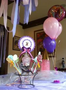 Handmade centerpiece for the birthday girl