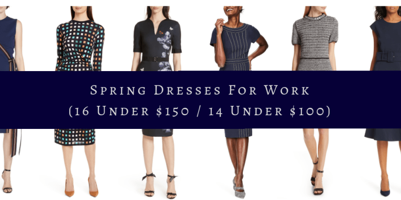 My 9 to 5 Shoes Spring Dresses for Work | 16 Under $150 | $14 Under $100