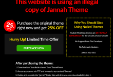 Photo of How to Fix This website is using illegal copy of jannah theme (easy way)