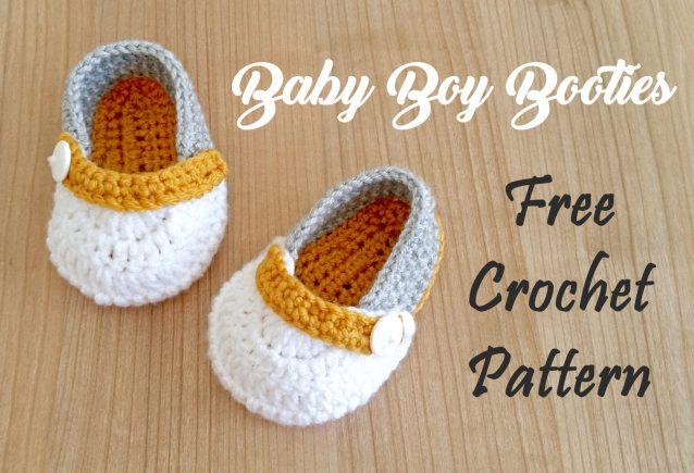 Simple Baby Boy Crochet Booties Free Pattern My Accessory Box