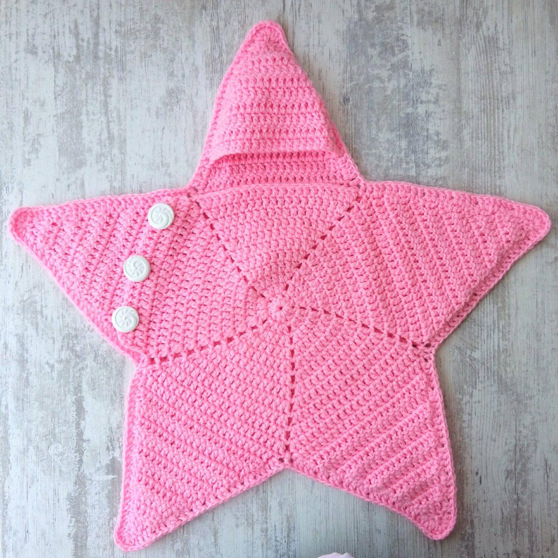 Crochet Baby Star Blanket Wrap Cozy Free Pattern My Accessory Box