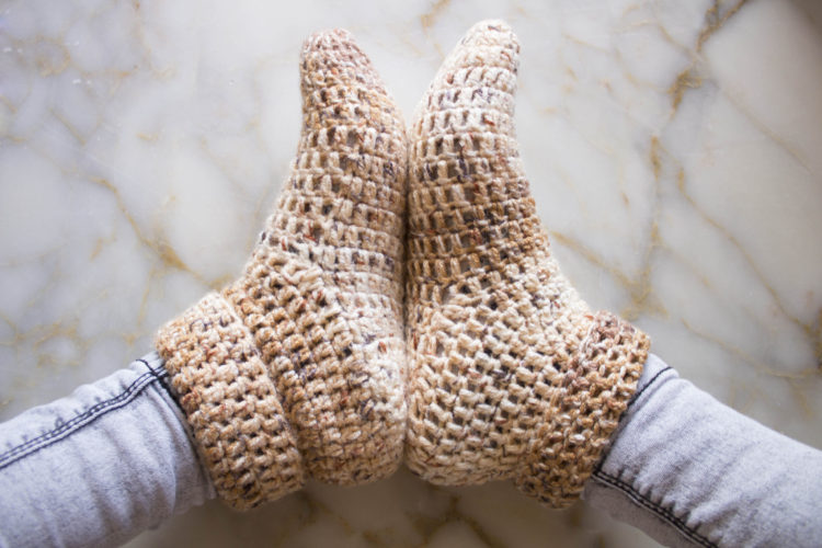 Quick Crochet Slippers Free Pattern My Accessory Box