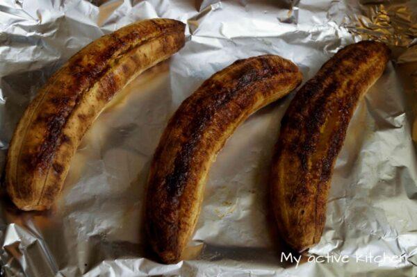 image of roasted plantain boli