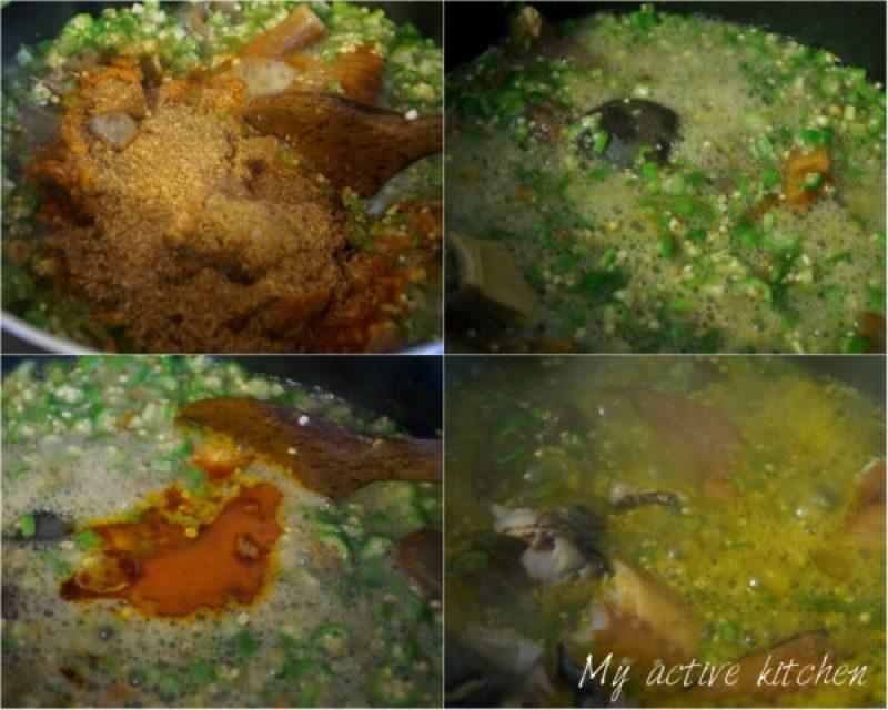 how to make okro soup.