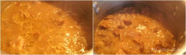 collage of assorted meat pepper soup still in a pot.