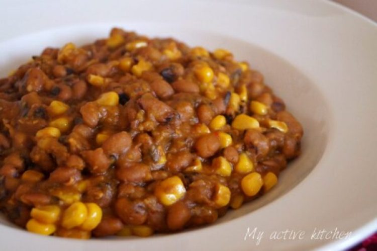 how to cook beans and corn
