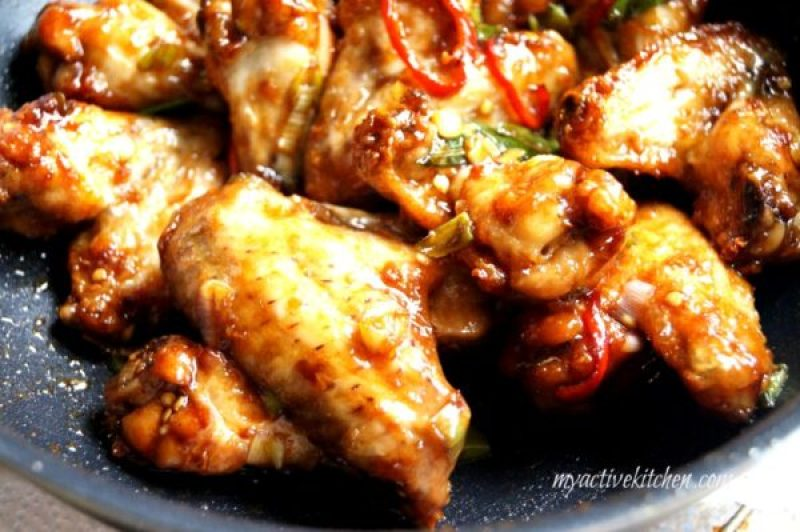 poultry with pepper and sauce