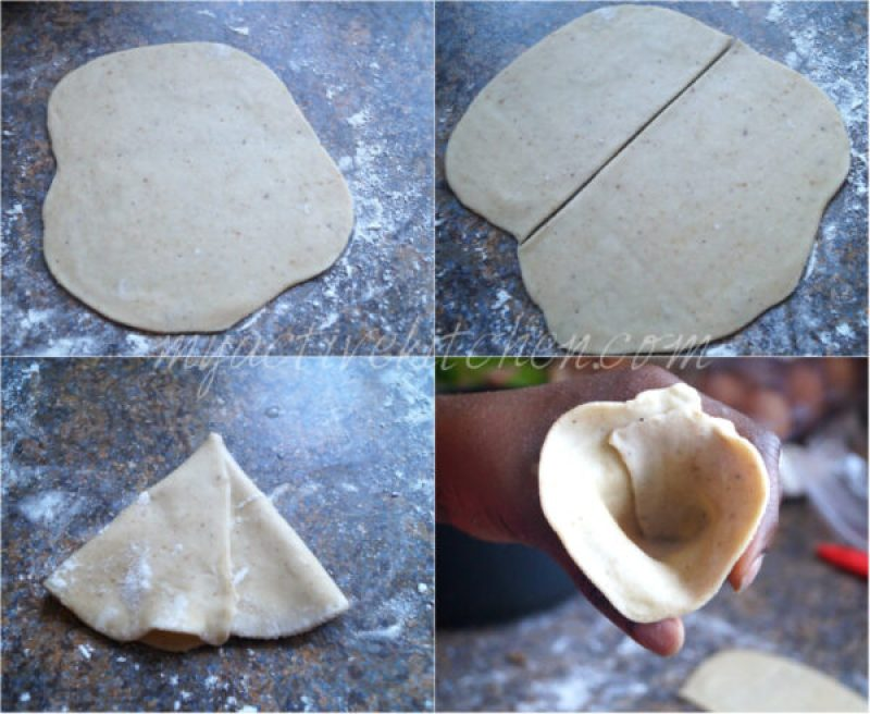 how to make and roll pastry for small chops
