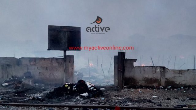 pictures from the Kantamanto fire