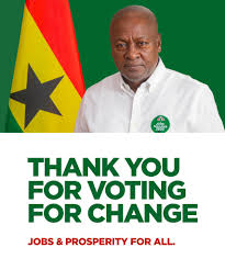 John Mahama Thanks Ghanaians For Parliamentary Majority