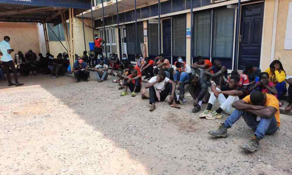 Suspects in custody call relatives to bring them Facemasks as Police arrest 105 for flouting Akufo-Addo directives
