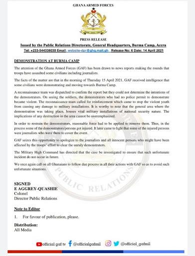 GAF Press Release