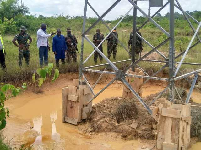 illegal mining that threatens a GRIDCo high tension pool