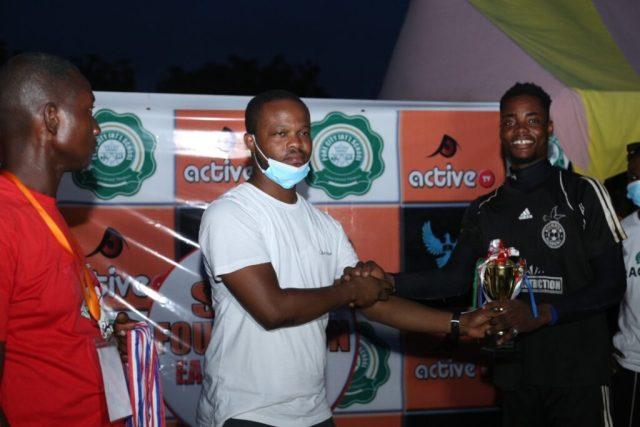 Agenda of Kingdom FC receiving Best Goalkeeper award
