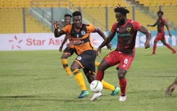 Legon Cities vs Kotoko in league action on 1st May 2021 in week 22 of the Ghana Premier League