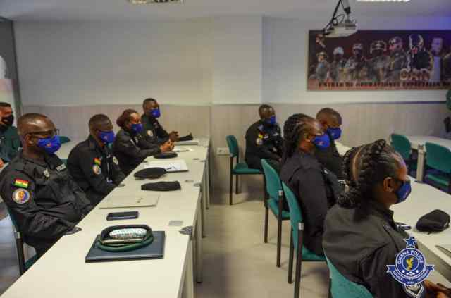 Eight Ghanaian Police Officers undergoing Counter-Terrorism training in Spain