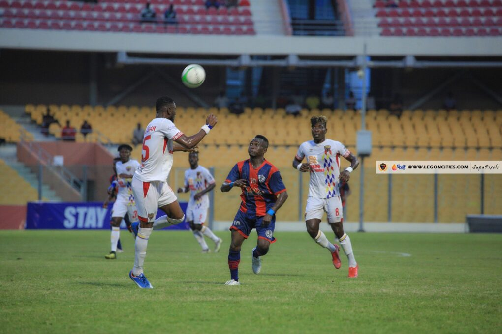 Kwadwo Obeng and Frederick Botchway combine to power Hearts of Oak past Legon Cities