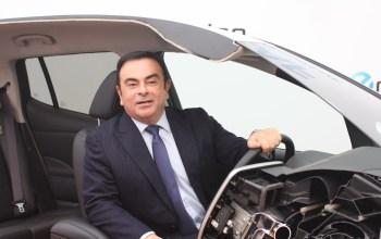 Carlos Ghosn -Former Nissan CEO in a car