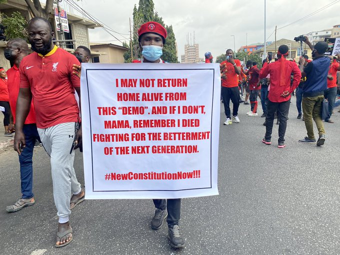 Pictures: Ghanaians pour out into streets to protest for the government to #FixTheCountry